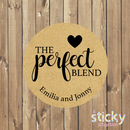 Personalised 'The Perfect Blend' Wedding Stickers